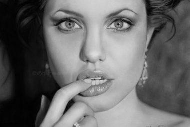 Pencil drawing Angelina Jolie