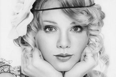 Pencil drawing Taylor Swift